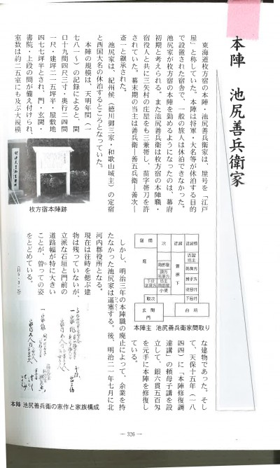 本陣跡資料のコピー
